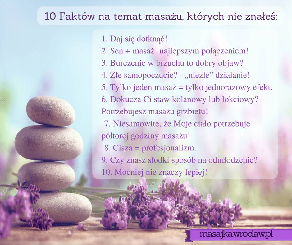 10 faktów na temat masażu, profesjonalny masaż Wrocław z dojazdem do klienta, masaż relaksacyjny