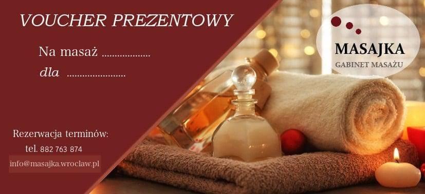 Voucher prezentowy na masaż relaksacyjny we Wrocławiu