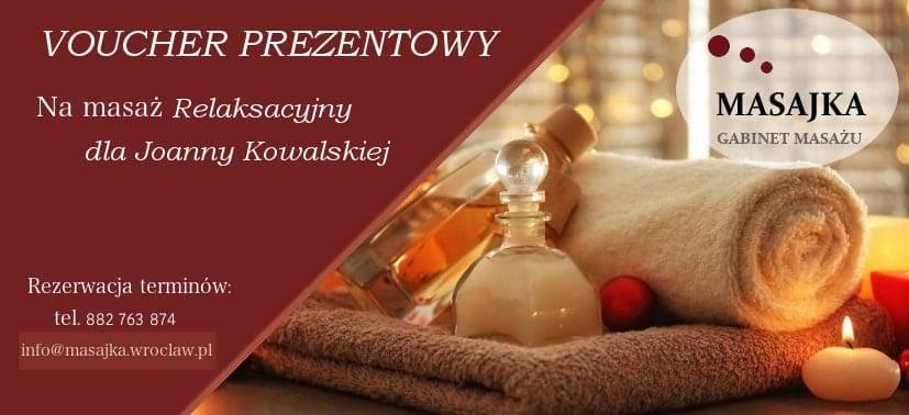 Voucher na profesjonalny masaż z dojazdem Wrocław
