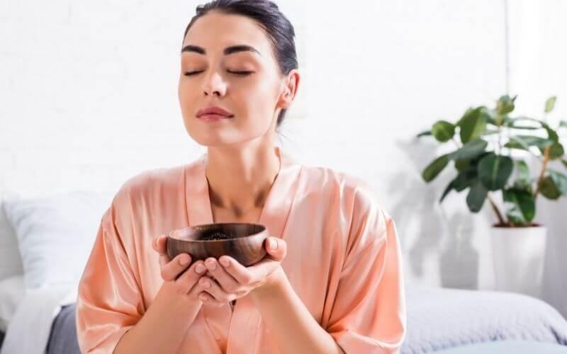 Aromaterapia - kobieta.